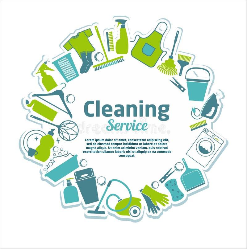service de nettoyage illustration libre de droits