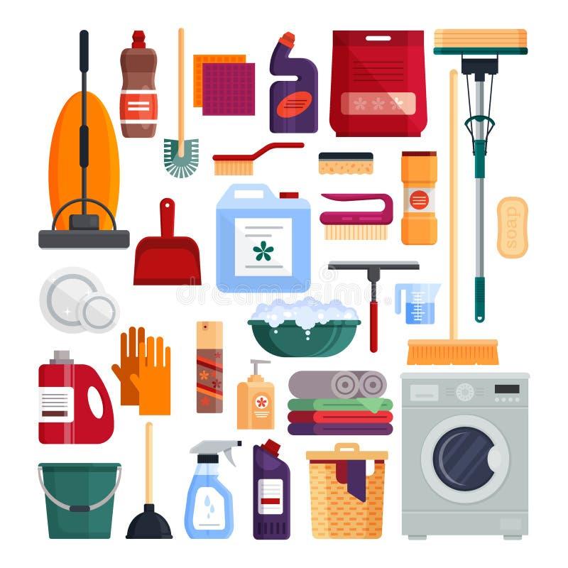 Service de nettoyage placez les outils de nettoyage de - Produit nettoyage facade maison ...