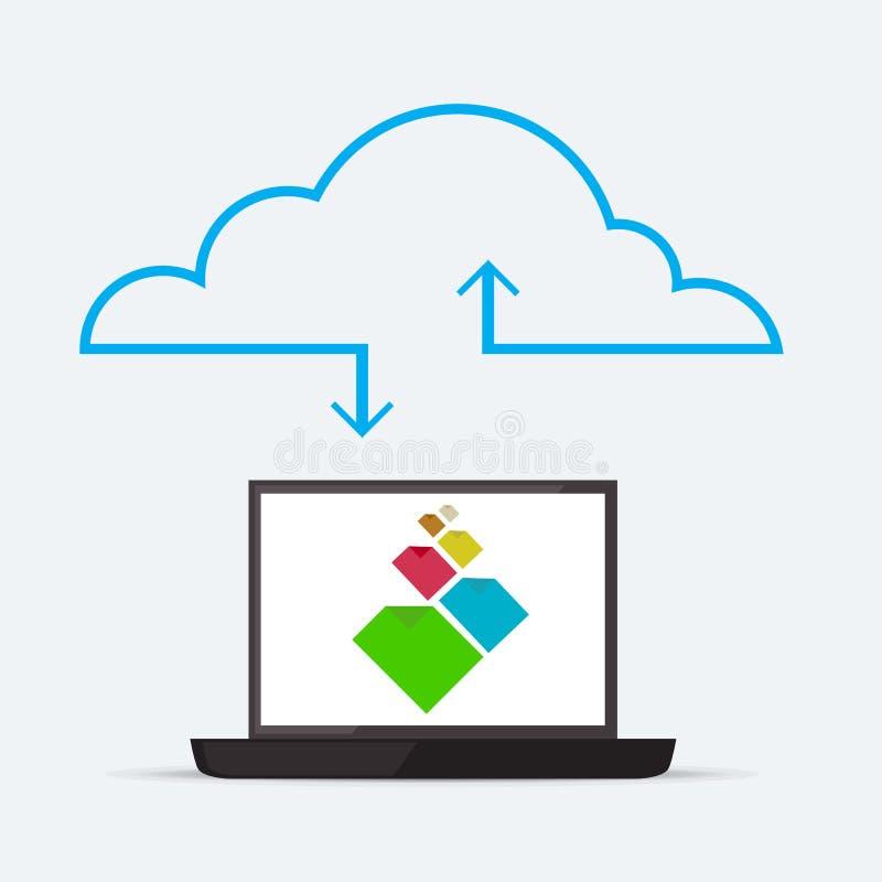 Service de nuage illustration libre de droits