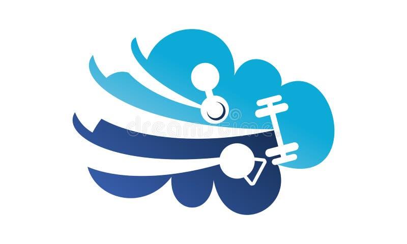 Service de nuage de forme physique illustration libre de droits