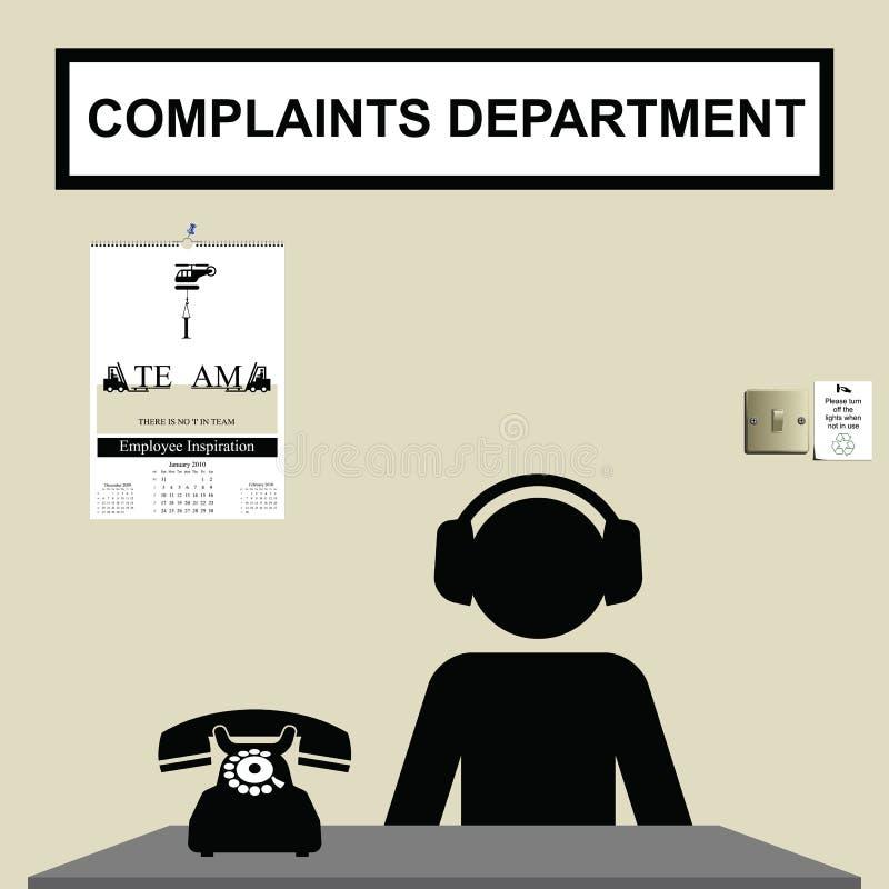 Service de plaintes illustration libre de droits