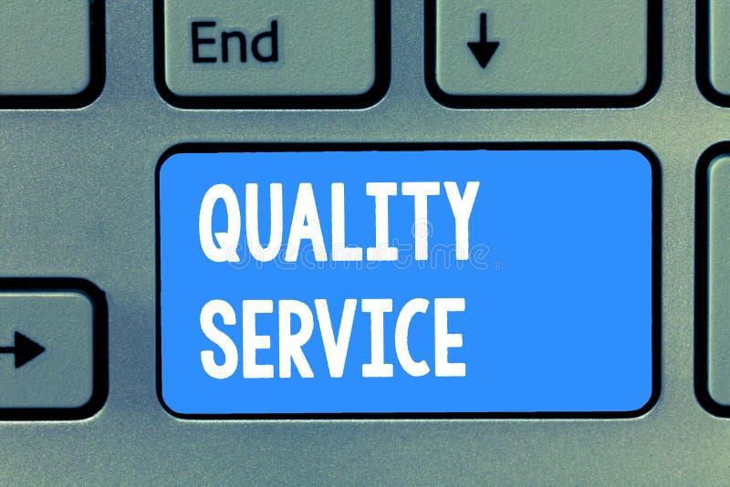 Service de qualité des textes d'écriture de Word Concept d'affaires pour à quel point le service fourni se conforme aux attentes  images libres de droits