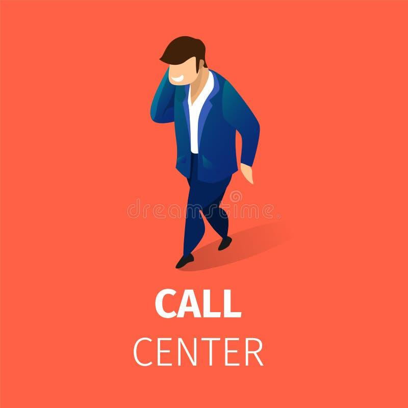 Service de support à la clientèle, communication mobile illustration libre de droits