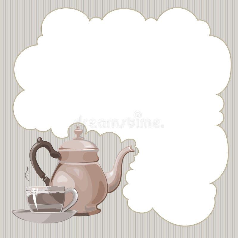 Service de thé illustration libre de droits