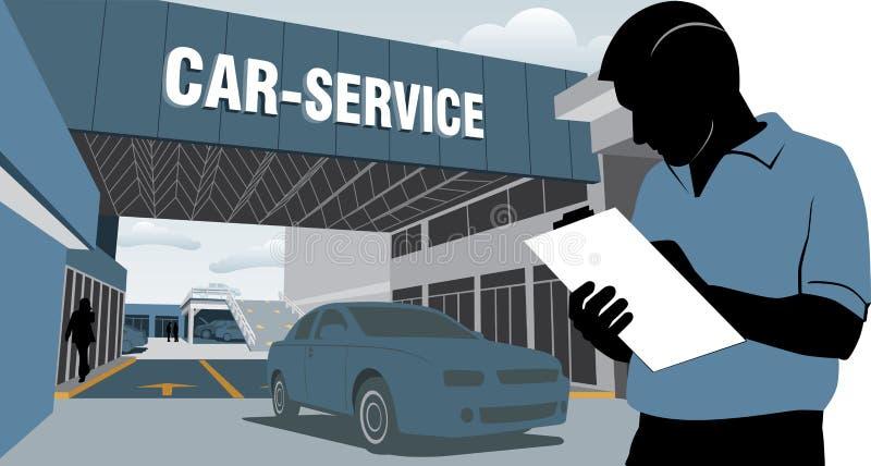 Service de voiture illustration stock