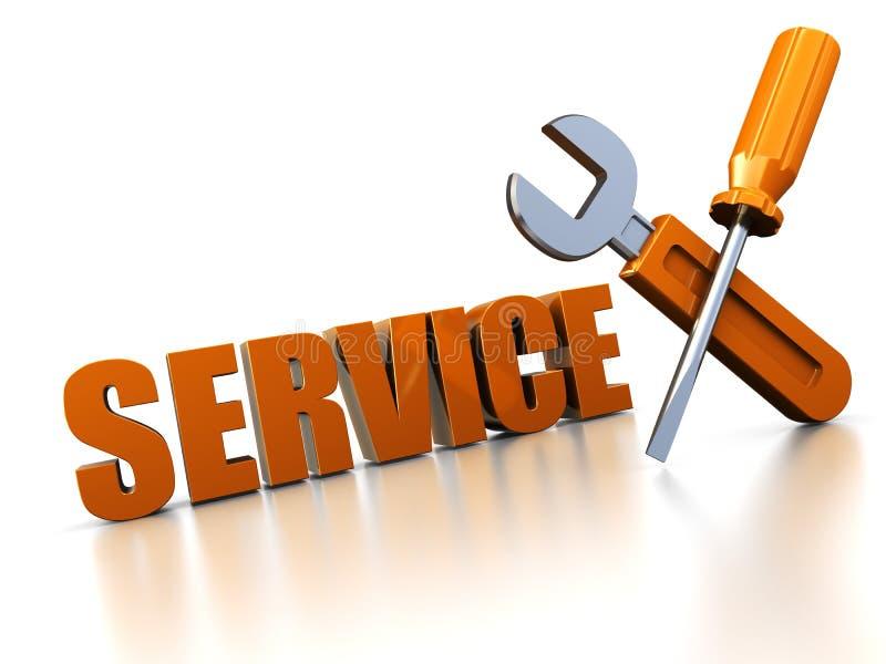 Service des réparations illustration de vecteur