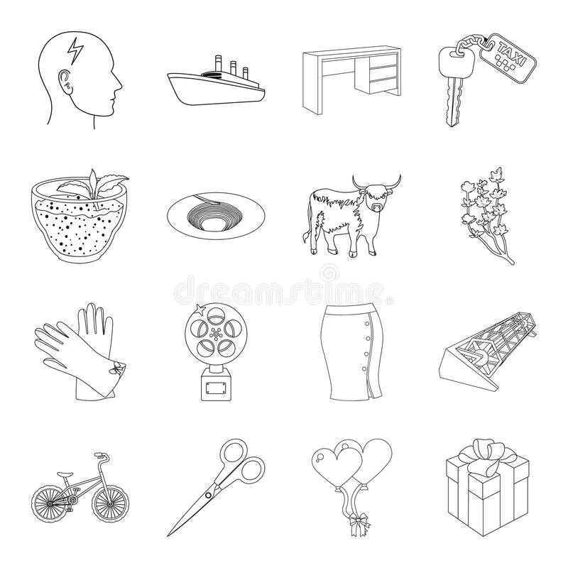 Service, education, transportation and other web icon in outline style.medicine, Sports, health icons in set collection. stock illustration