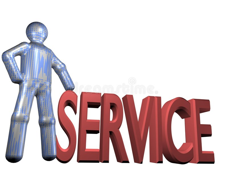 Service is everything royalty free illustration
