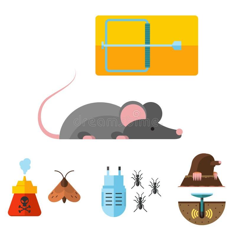 Service expert à la maison d'exterminateur de vermine de contrôle insecte vecteur de parasite illustration libre de droits