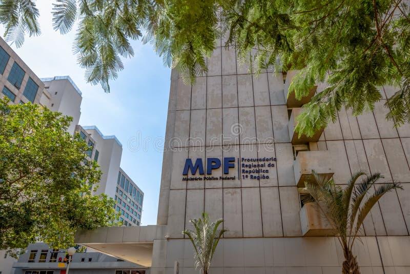 Service fédéral de poursuite - Ministerio Publico fédéral - MPF - Brasilia, Distrito fédéral, Brésil images stock