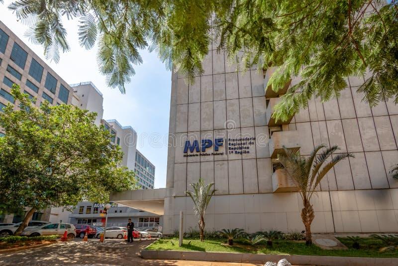 Service fédéral de poursuite - Ministerio Publico fédéral - MPF - Brasilia, Distrito fédéral, Brésil image libre de droits