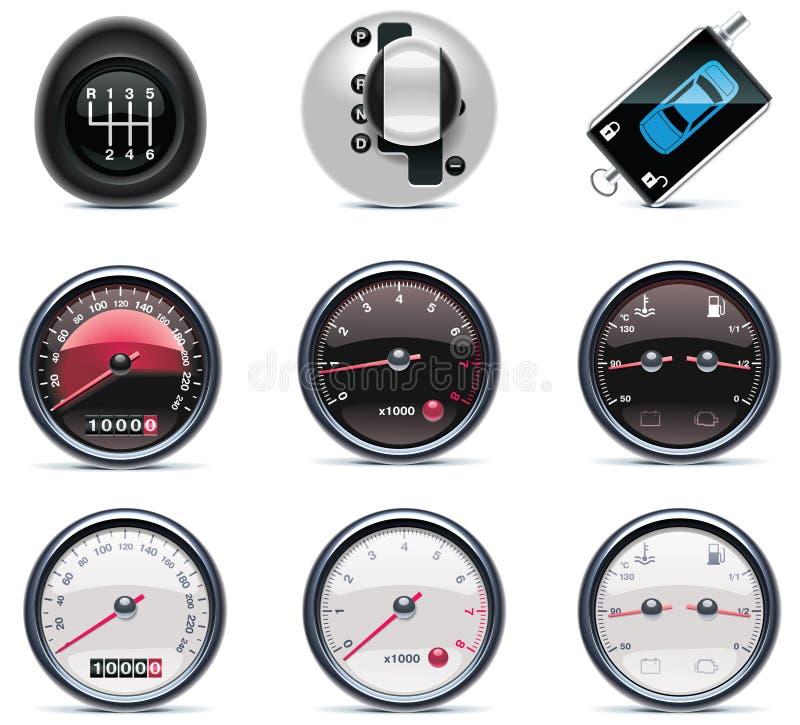 service för del för 4 bilsymboler vektor illustrationer