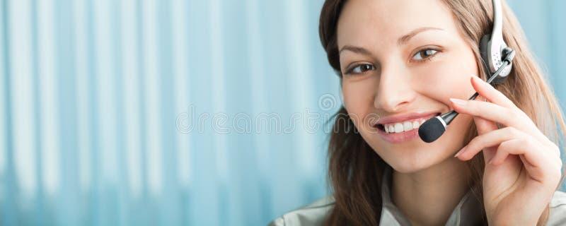 service för hörlurar med mikrofonoperatörstelefon arkivfoton