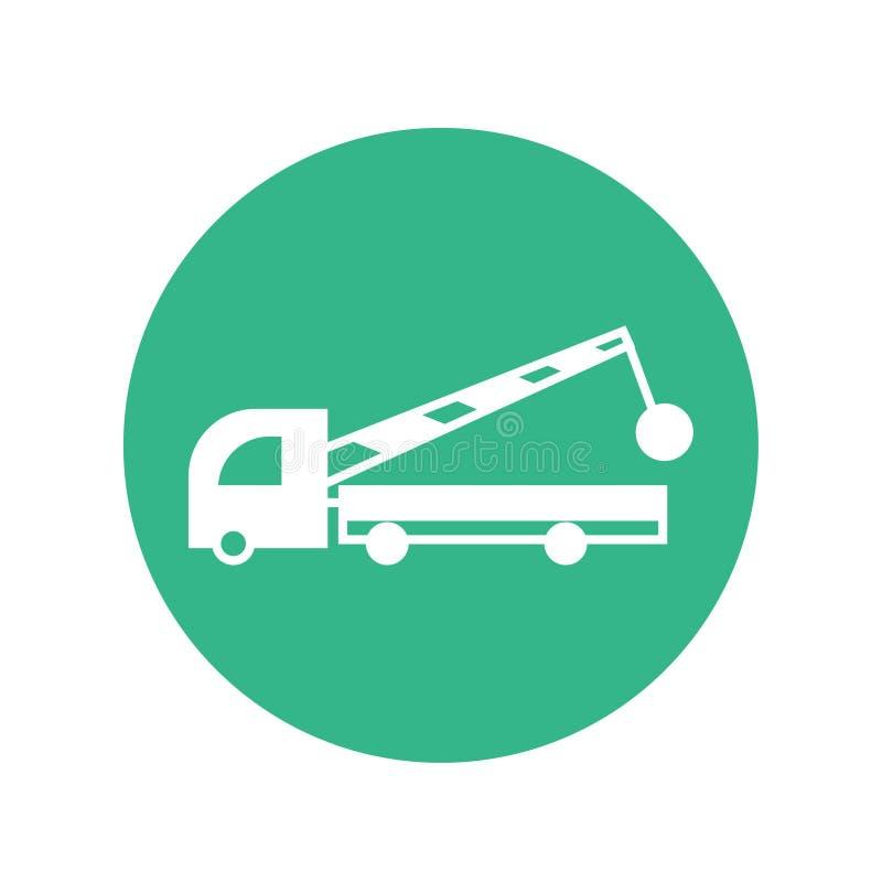 Service för konstruktion för symbol för konstruktionslastbilvektor vektor illustrationer