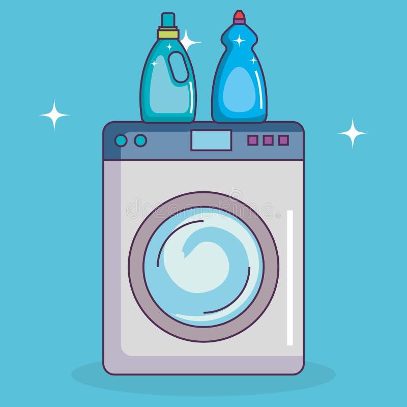 Service för Washmaskintvätteri royaltyfri illustrationer