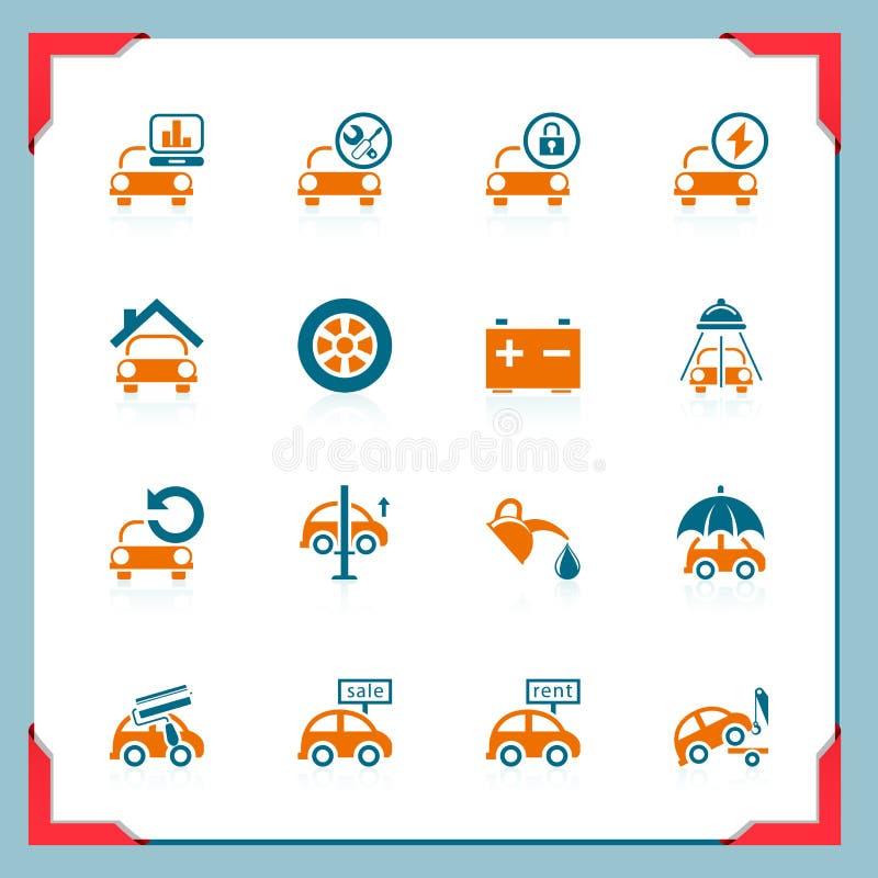 service för serie för bilramsymboler arkivfoton