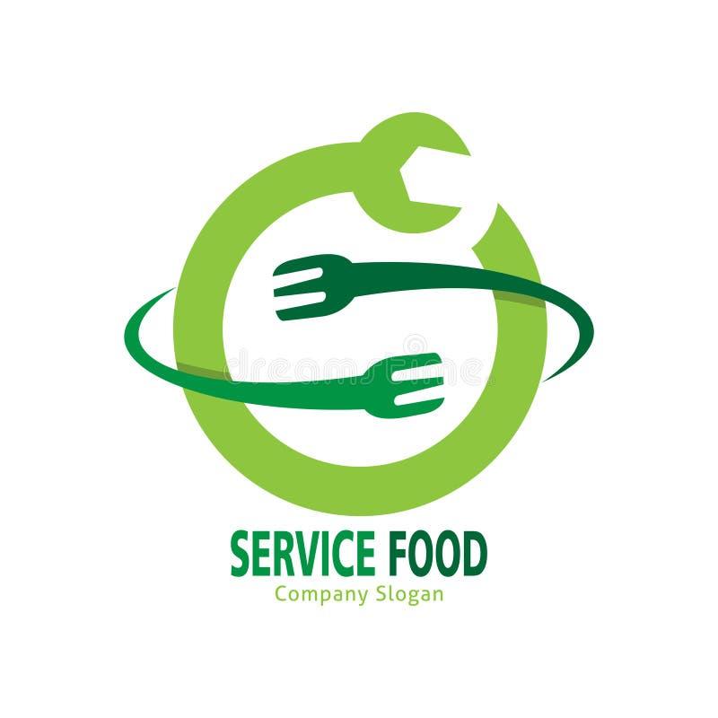 Service food logo royalty free illustration