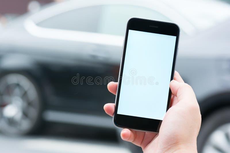 Service futé de téléphone et de voiture images libres de droits