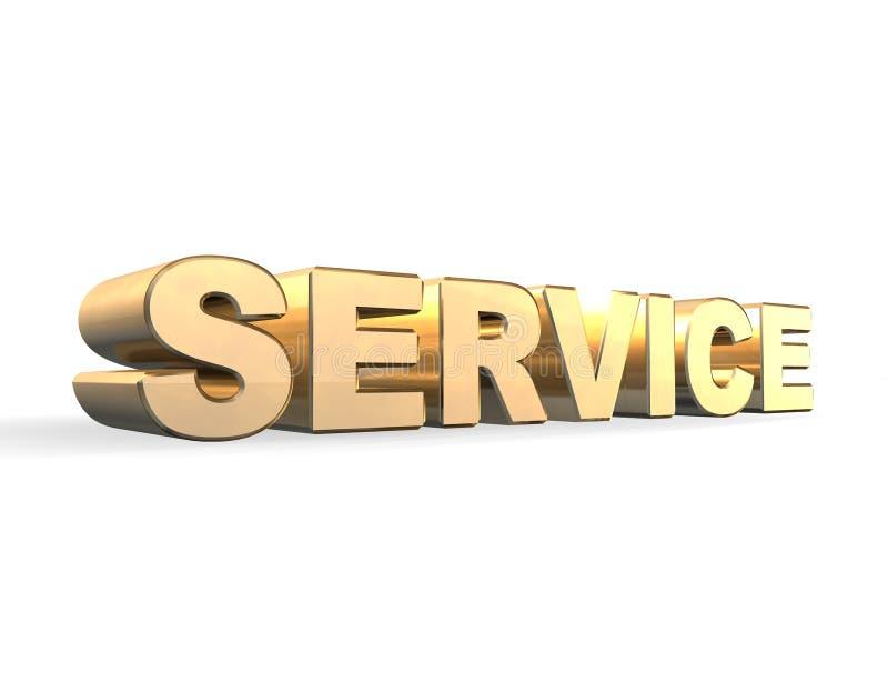 Download Service Gold 3d stock illustration. Illustration of concept - 11301471
