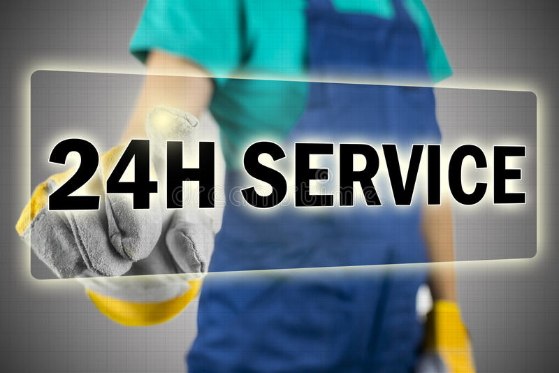 service 24h photo libre de droits