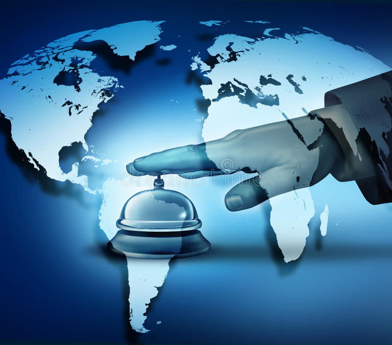 Service hôtelier global illustration stock