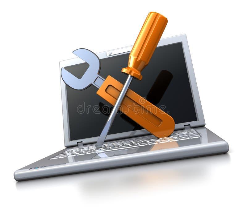Service informatique illustration de vecteur