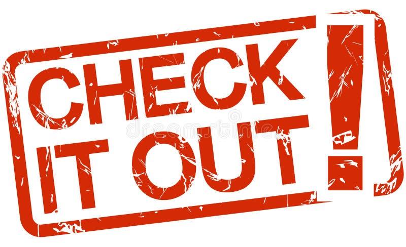 service informatique de CONTRÔLE rouge de timbre ! photographie stock