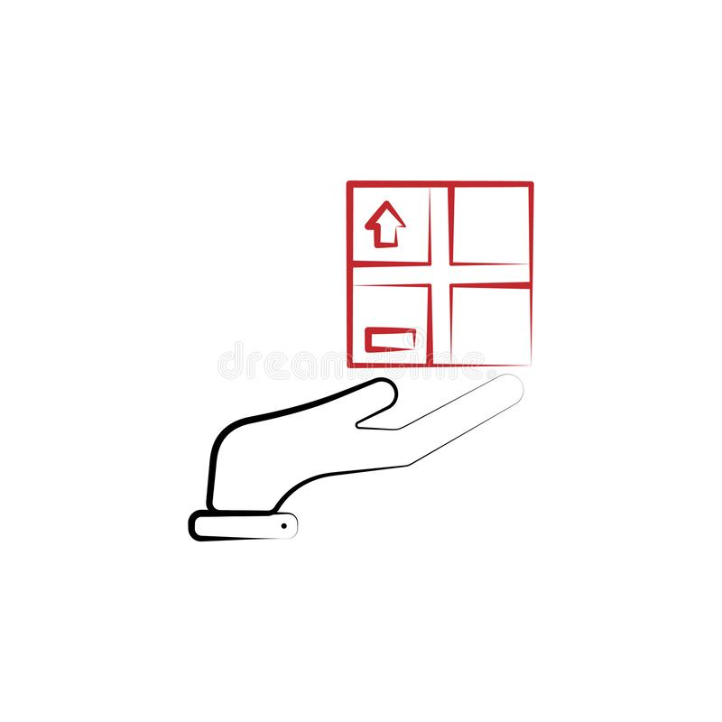 Service logistic 2 colored line icon. Simple colored element illustration. Service logistic outline symbol design from stock illustration