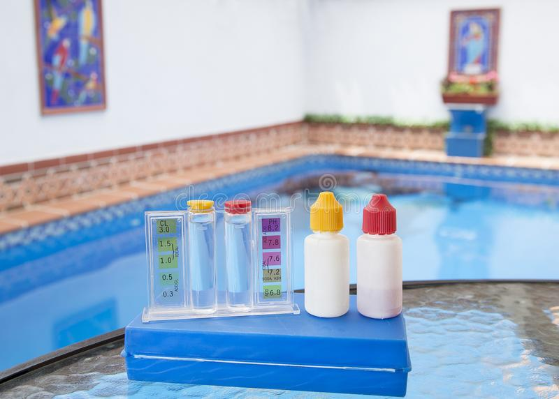 Measurement Of PH And Chlorine In Swimming Pools Stock Photo ...