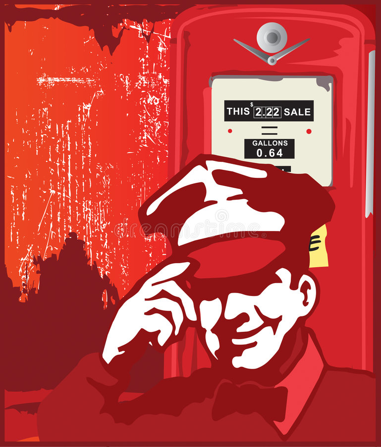 Service Man From Hell stock illustration
