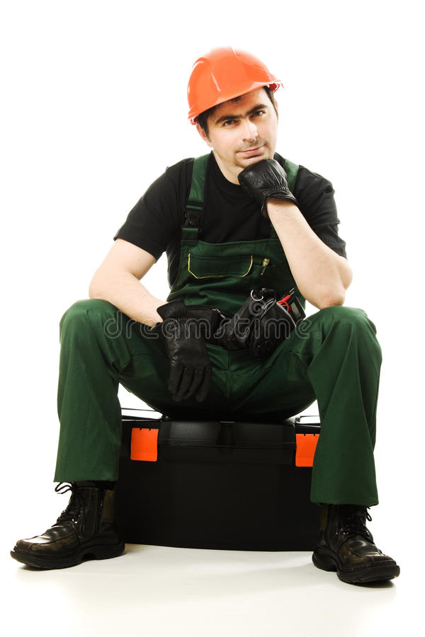 Download Service Man Wearing In Helmet Royalty Free Stock Photos - Image: 26818508