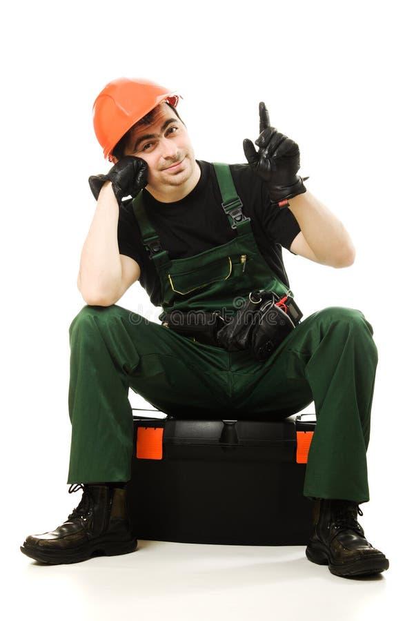 Download Service Man Wearing In Helmet Stock Photo - Image: 26818524