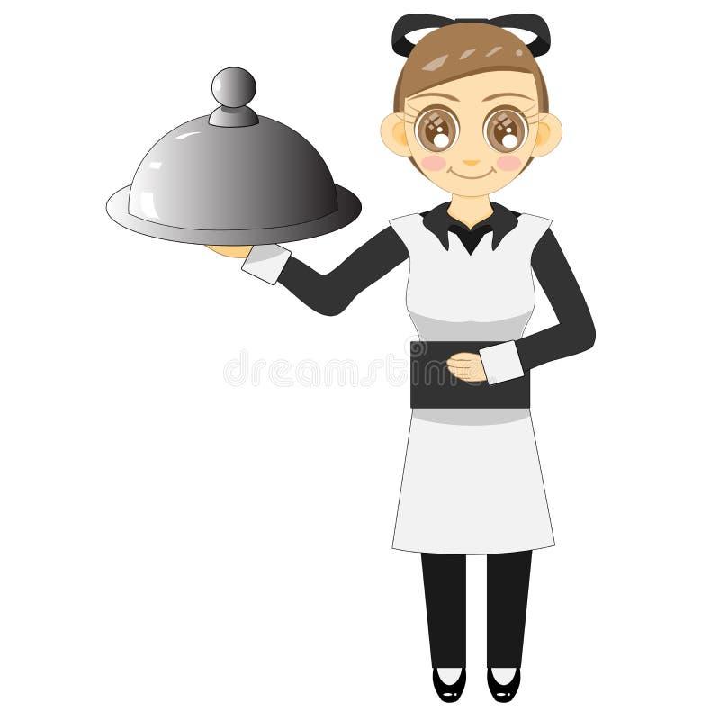 Service mind2018 de serveuse illustration de vecteur