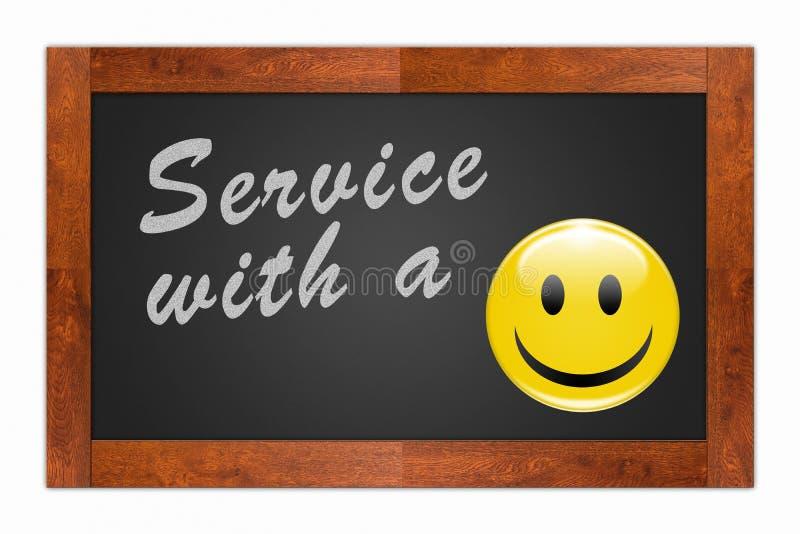 Service mit einem Lächeln lizenzfreie abbildung