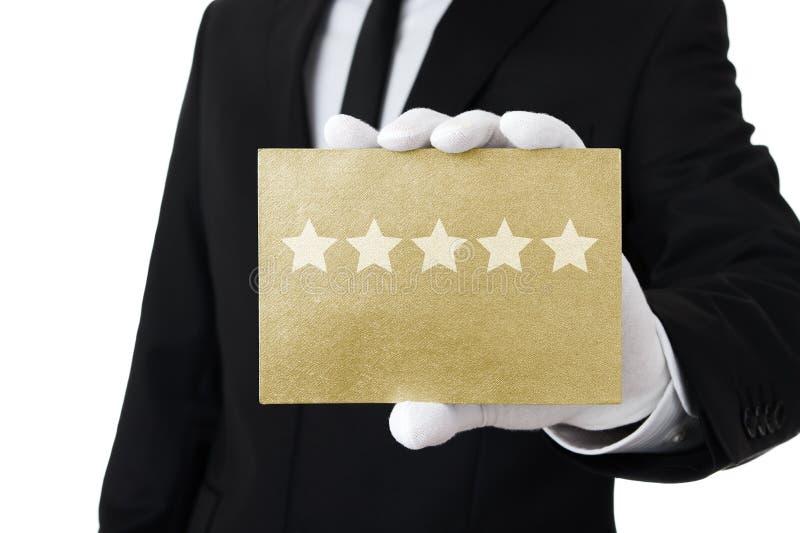 Service mit fünf Sternen lizenzfreie stockbilder