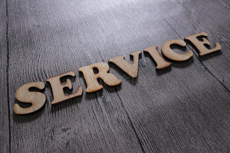Service, Motivwort-Zitat-Konzept lizenzfreie stockfotos