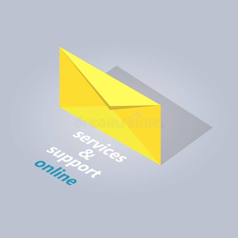 Service online in der Chat-Illustration stock abbildung