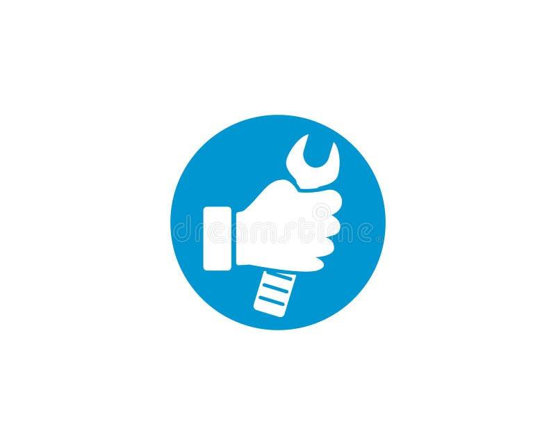 Service point logo. Vector icon illustration design royalty free illustration