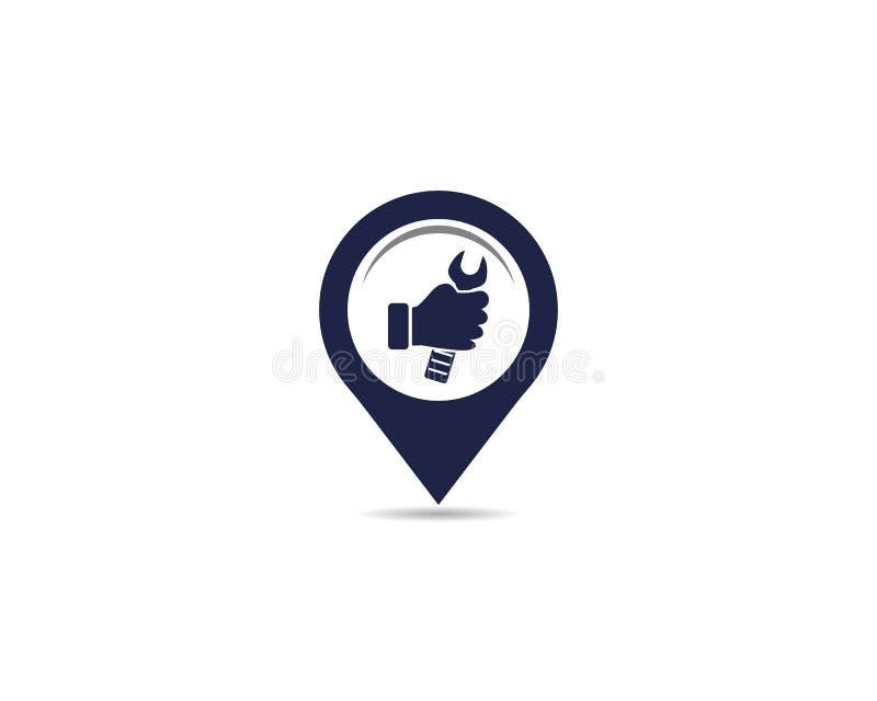 Service point logo. Vector icon illustration design stock illustration