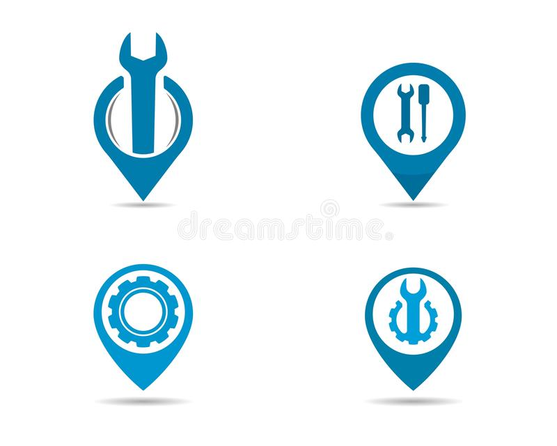 Service point logo. Vector icon illustration design vector illustration