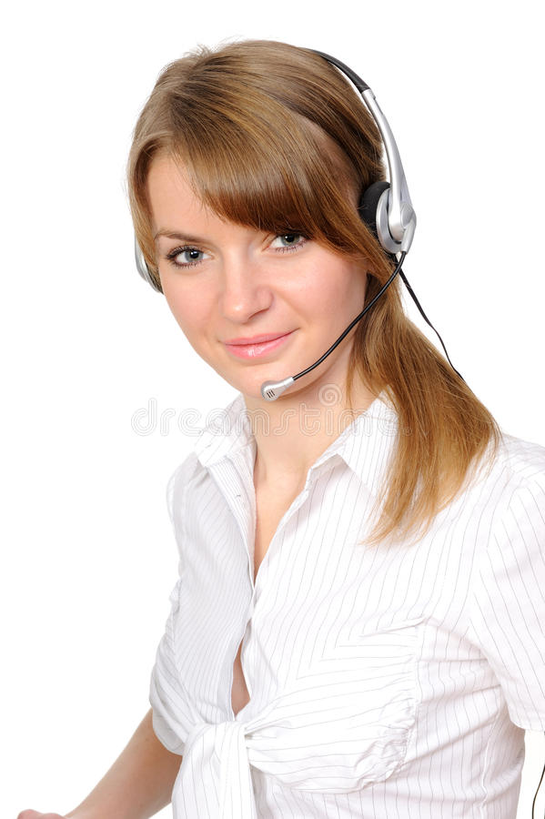 Free Service Representative In Headset. Stock Photo - 13903590