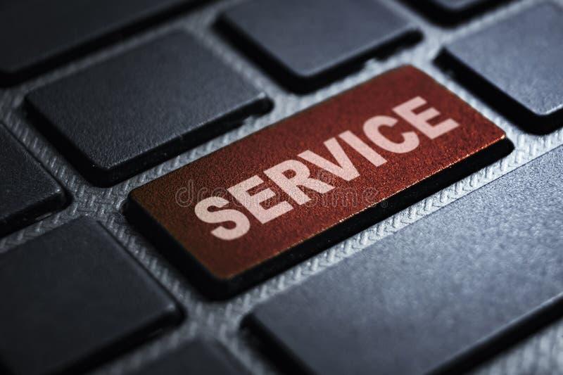 Service-Schlüsselwort auf Tastatur lizenzfreie abbildung