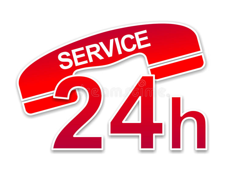 Service sign stock illustration