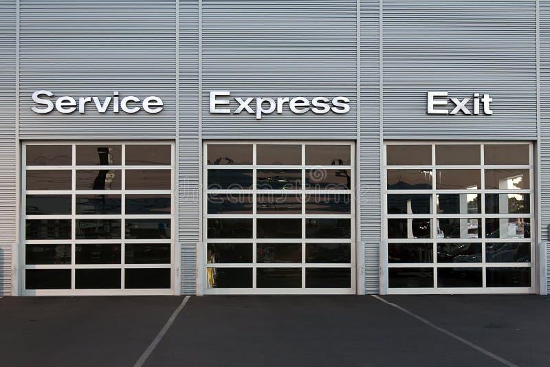 Service station at car dealership