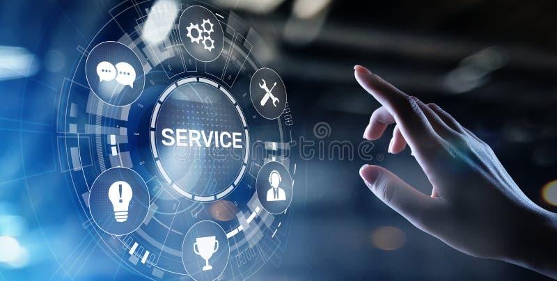 Service support customer help call center Business technology button on virtual screen. stock photos