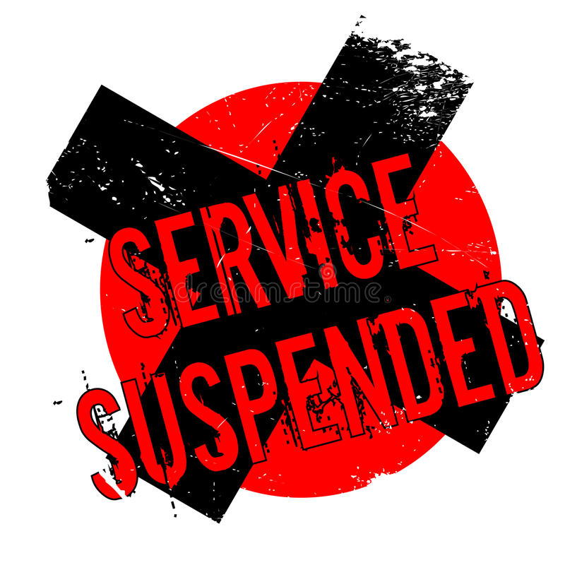 Service Suspended rubber stamp royalty free illustration