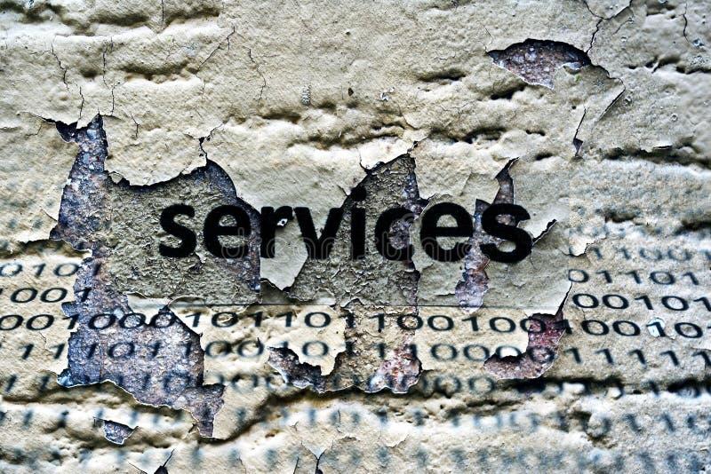 Service-Text stockfotografie