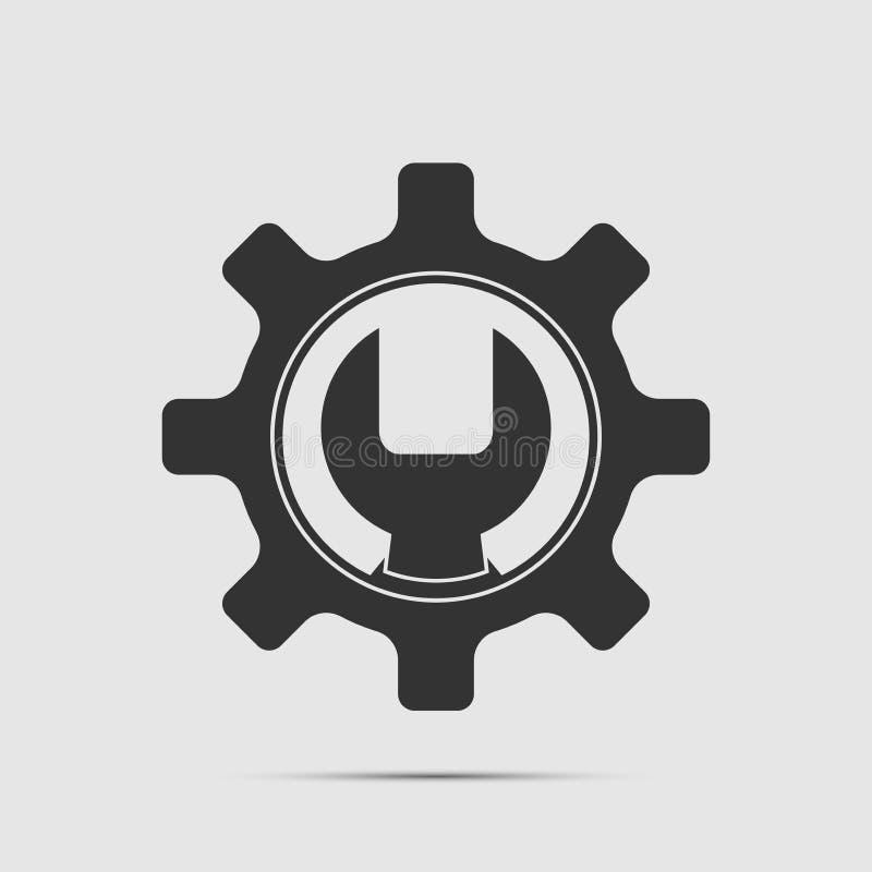 Service Tool icon on white background royalty free illustration