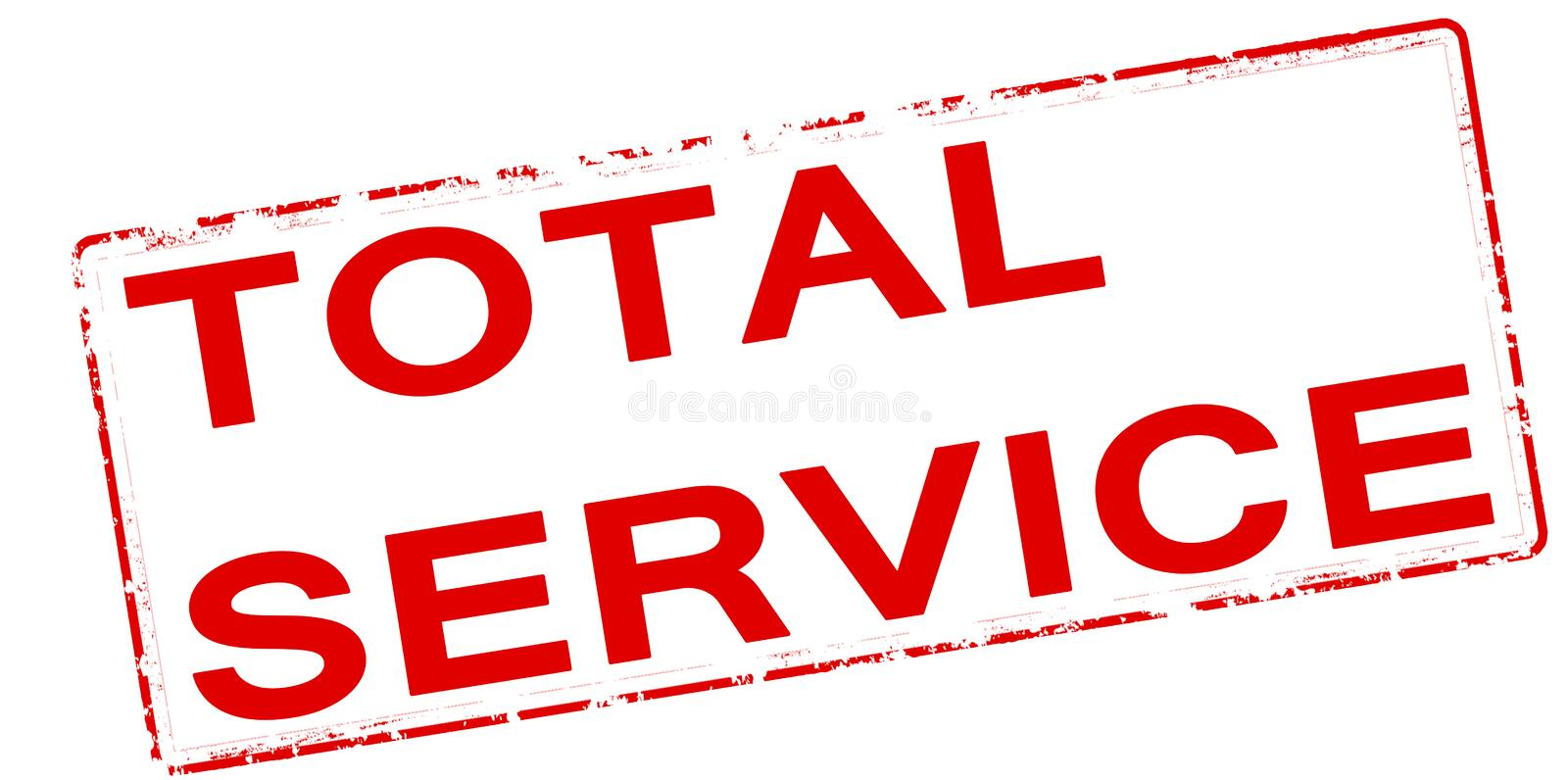 Service total illustration stock