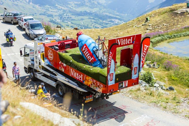 Service Truck in Alps - Tour de France 2015 stock photo
